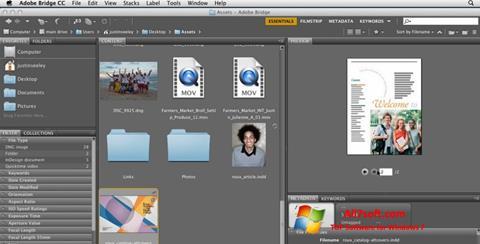 Ekrano kopija Adobe Bridge Windows 7