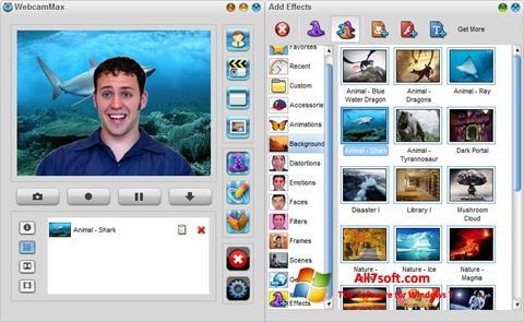 Ekrano kopija WebcamMax Windows 7