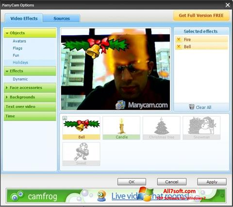 Ekrano kopija ManyCam Windows 7