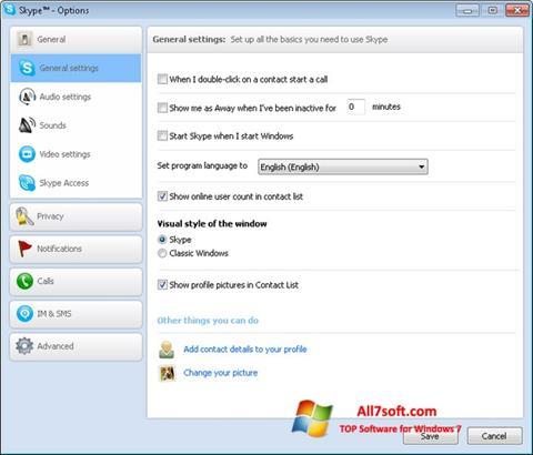 Ekrano kopija Skype Setup Full Windows 7
