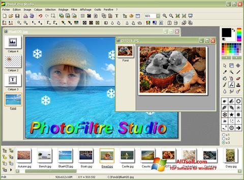 Ekrano kopija PhotoFiltre Windows 7
