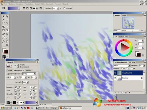 Ekrano kopija Artweaver Windows 7