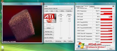 Ekrano kopija ATITool Windows 7