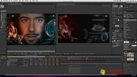 Ekrano kopija Adobe After Effects Windows 7