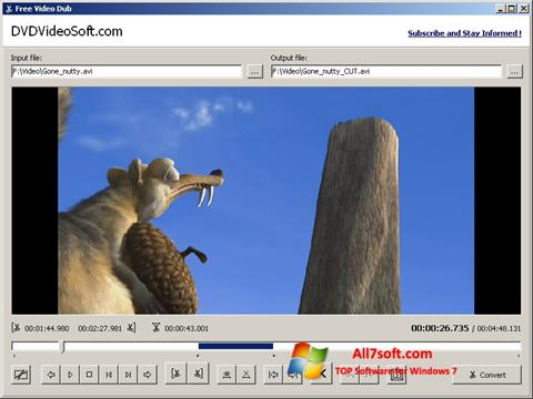 Ekrano kopija Free Video Dub Windows 7
