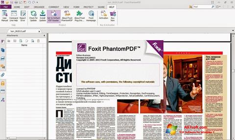 Ekrano kopija Foxit Phantom Windows 7