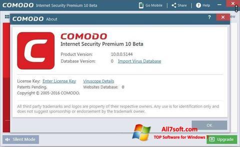 Ekrano kopija Comodo Windows 7