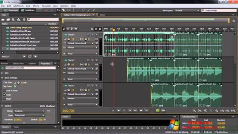 Ekrano kopija Adobe Audition CC Windows 7