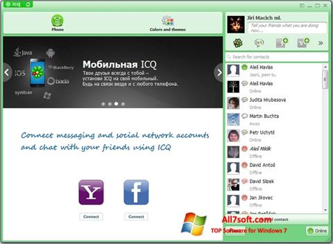Ekrano kopija ICQ Windows 7