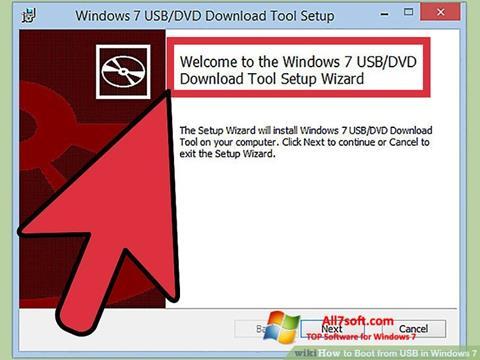 Ekrano kopija Windows 7 USB DVD Download Tool Windows 7