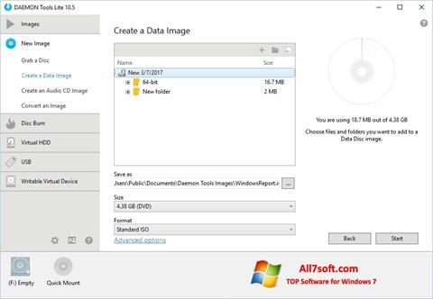Ekrano kopija DAEMON Tools Lite Windows 7