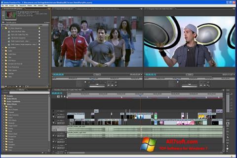 Ekrano kopija Adobe Premiere Pro Windows 7