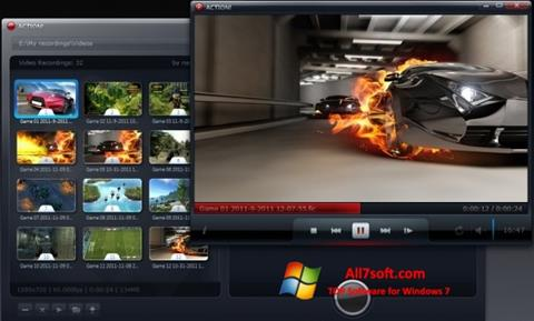 Ekrano kopija Action! Windows 7