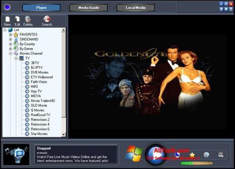 Ekrano kopija Online TV Live Windows 7