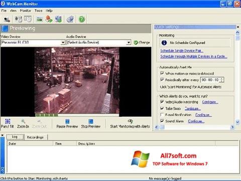 Ekrano kopija WebCam Monitor Windows 7
