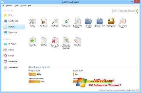 Ekrano kopija jv16 PowerTools Windows 7