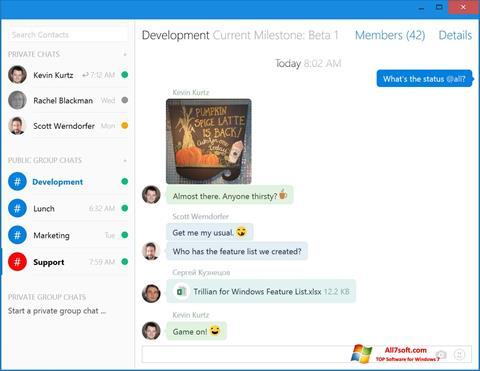 Ekrano kopija Trillian Windows 7