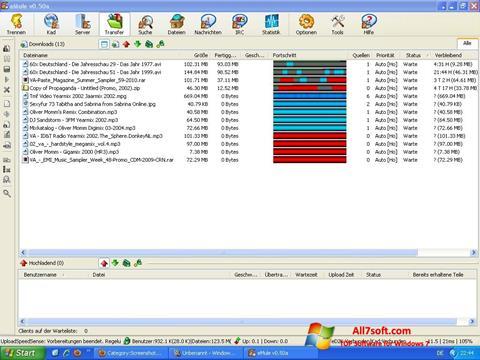 Ekrano kopija eMule Windows 7