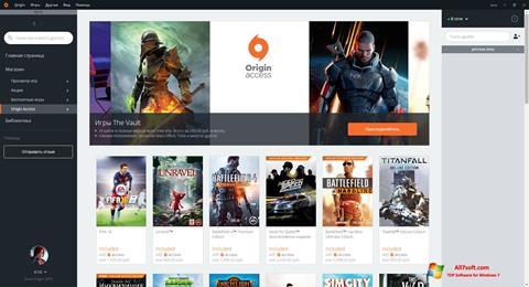 Ekrano kopija Origin Windows 7