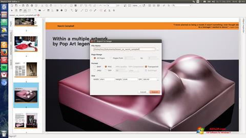 Ekrano kopija Master PDF Editor Windows 7