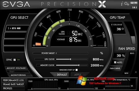 Ekrano kopija EVGA Precision X Windows 7