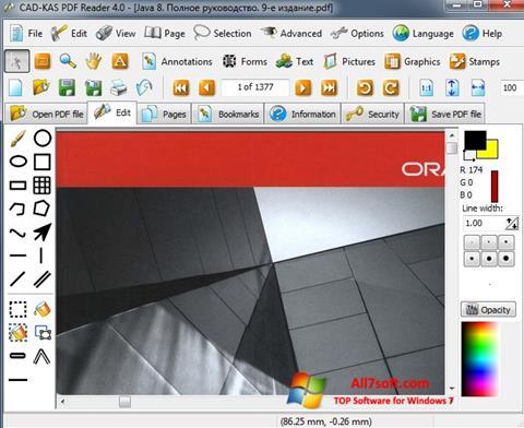 Ekrano kopija PDF Reader Windows 7