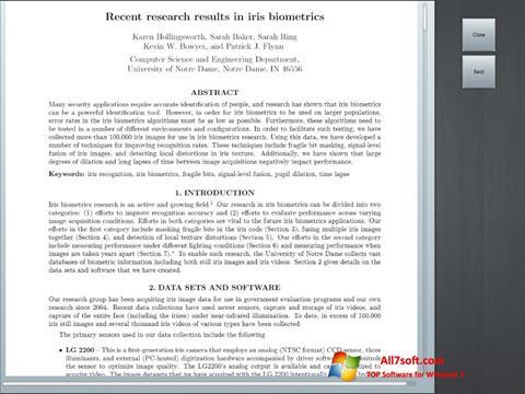 Ekrano kopija Doc Viewer Windows 7