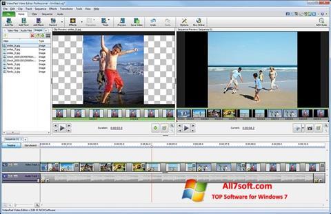 Ekrano kopija VideoPad Video Editor Windows 7