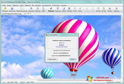 Ekrano kopija FastStone Capture Windows 7