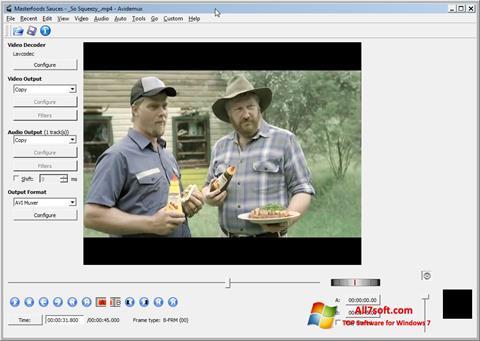 Ekrano kopija Avidemux Windows 7