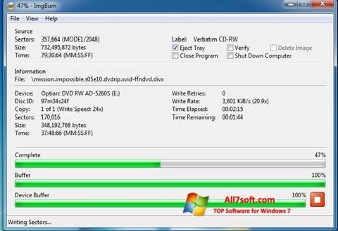 Ekrano kopija ImgBurn Windows 7