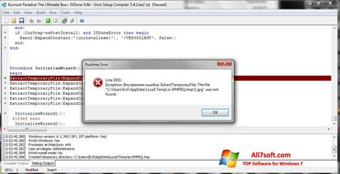 Ekrano kopija Inno Setup Windows 7