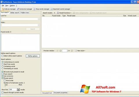 Ekrano kopija SearchInform Windows 7