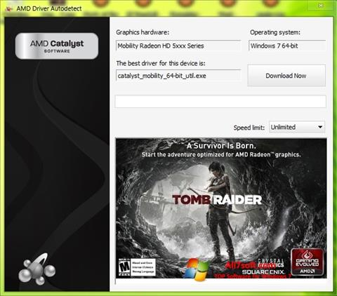 Ekrano kopija AMD Driver Autodetect Windows 7