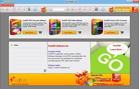 Ekrano kopija Doc Reader Windows 7