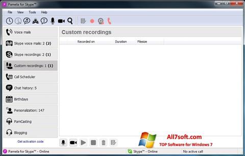 Ekrano kopija Pamela for Skype Windows 7