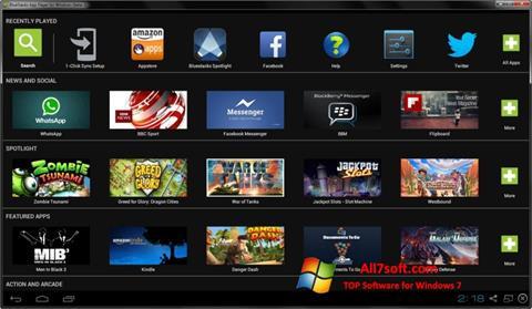 Ekrano kopija BlueStacks Windows 7