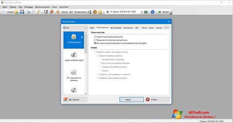Ekrano kopija Nero Windows 7
