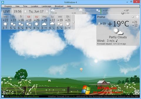 Ekrano kopija YoWindow Windows 7