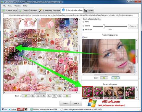 Ekrano kopija Photo Collage Windows 7