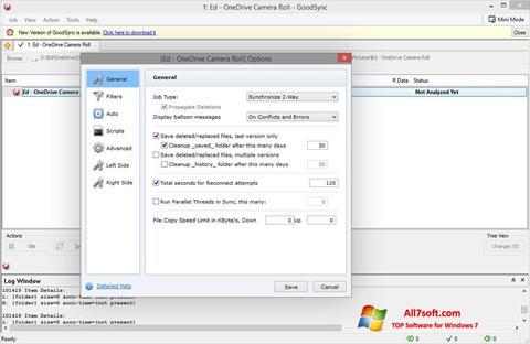 Ekrano kopija GoodSync Windows 7