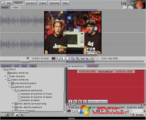 Ekrano kopija ZS4 Video Editor Windows 7