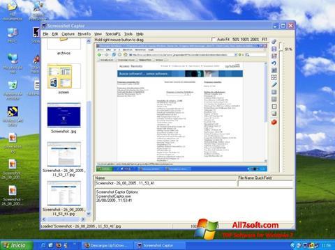 Ekrano kopija Screenshot Captor Windows 7