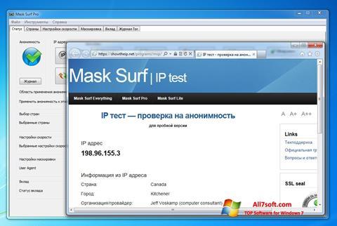 Ekrano kopija Mask Surf Windows 7