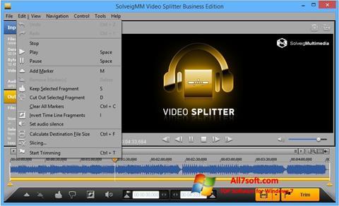 Ekrano kopija SolveigMM Video Splitter Windows 7