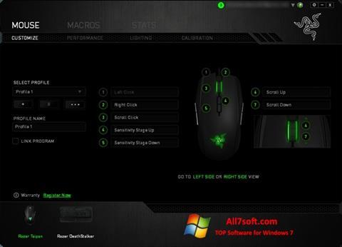 Ekrano kopija Razer Synapse Windows 7