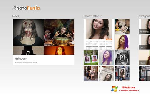 Ekrano kopija PhotoFunia Windows 7