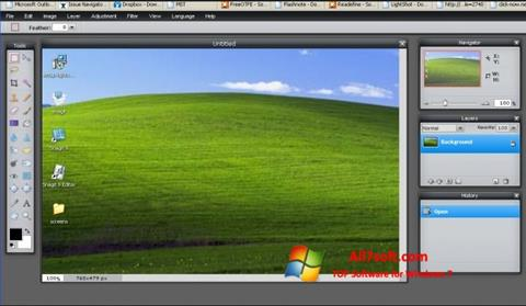 Ekrano kopija LightShot Windows 7