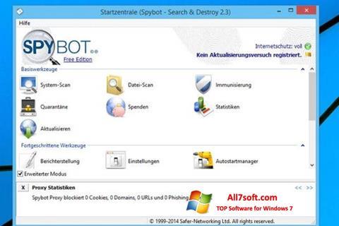Ekrano kopija SpyBot Windows 7