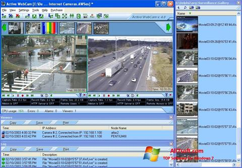 Ekrano kopija Active WebCam Windows 7